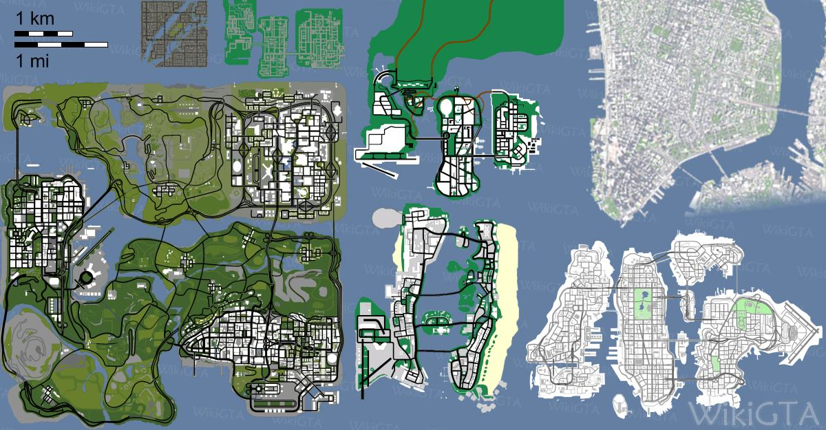 Grand theft auto 1 map