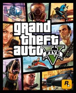 Het logo van Grand Theft Auto V