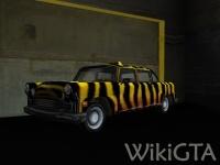 Zebra Cab in GTA Vice City