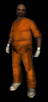 8 Ball in gevangenisuniform