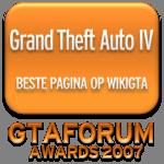 GTA IV - Beste pagina op WikiGTA in 2007