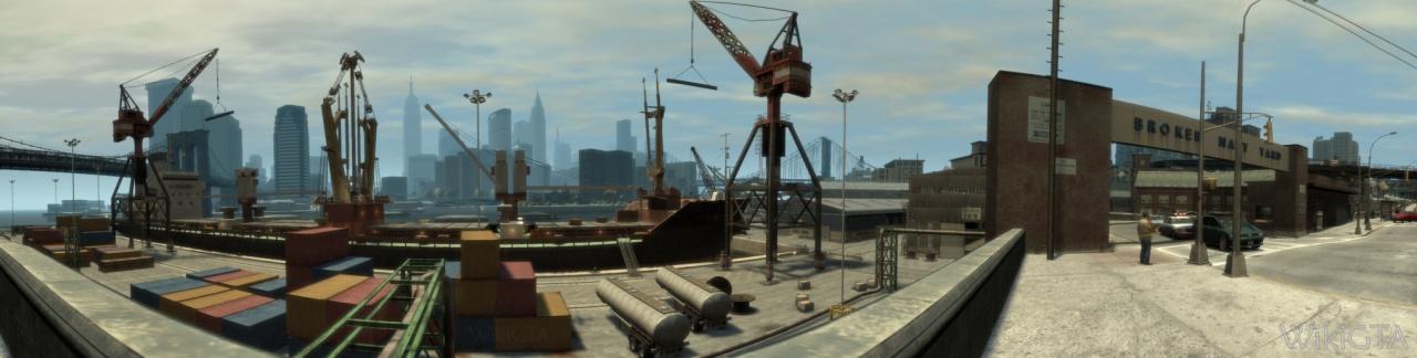 Broker Navy Yard gezien vanaf Roman's taxibedrijf.