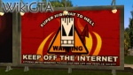 Keep off the internet!