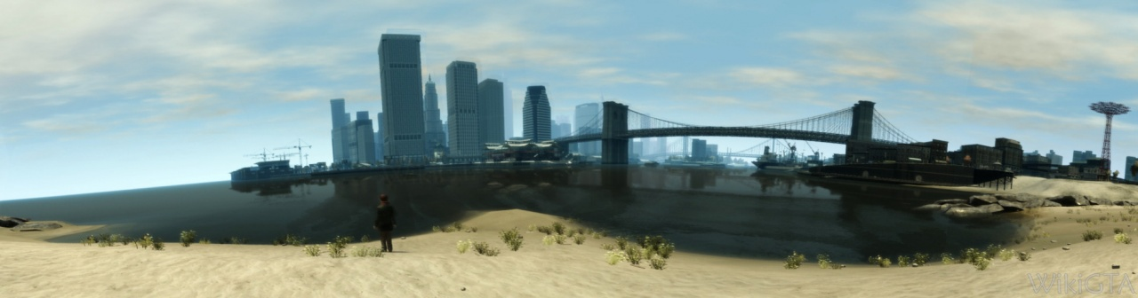 Algonquin gezien vanaf de punt van Firefly island.