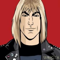 Artwork van Lazlow als DJ van V-Rock